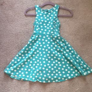 Polka dot Aqua 50s Inspired dress